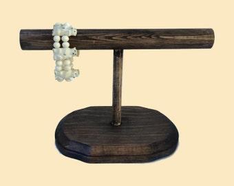 6 inch Wood Bracelet Stand, Jewelry Display, Bracelet Display, Bracelet Holder - 10 color choices