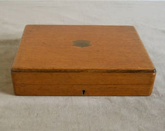 Vintage wooden  cutlery box (empty - case only), ca. 1920's