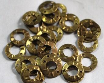 50 Round Golden Color Sequins/100% Metal base/KBMS574