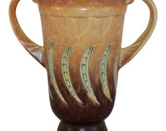 Roseville Pottery Falline Brown Vase 642-6