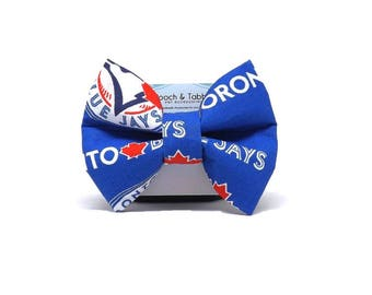 Blue Jays Bow Tie - Dog or Cat Collar Attachment   5 Sizes Available