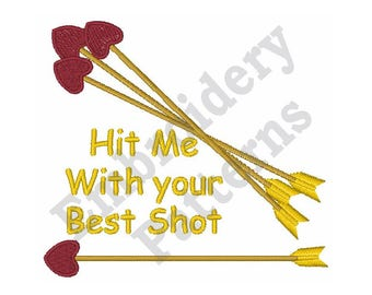 Hit Me With Your Best Shot - Machine Embroidery Design