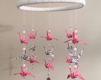 Origami Crane Mobile - Baby Girl