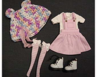 Blythe outfit set 5 pieces/Azone body and 1/6 bjd dolls