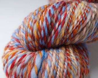 292 yards rainbow handspun yarn, 7 oz.