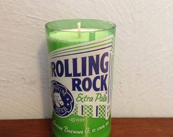 Rolling Rock Beer Bottle Candle - Vanilla