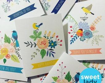 Pretty Bird Notecards