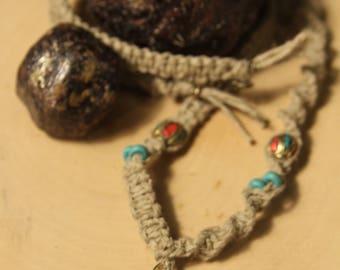 Wrapped Garnet hemp chain