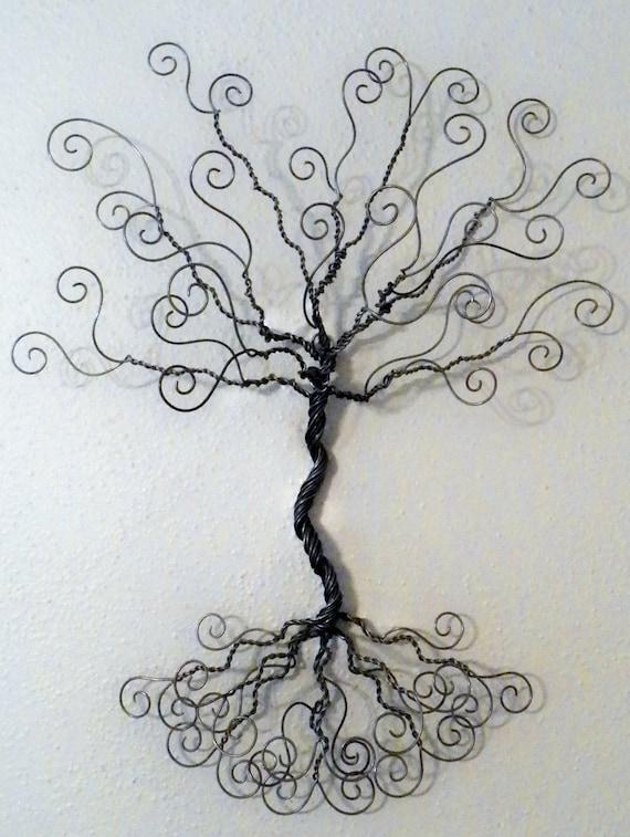 Jewelry tree wire wall mount earring hanger necklace