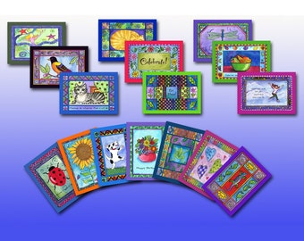 Set of 16 cards