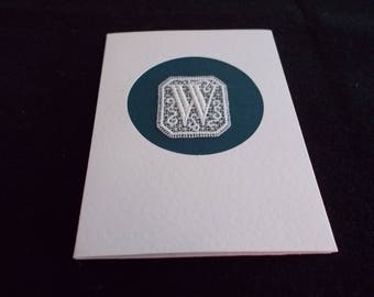 Cards with Belgian Lace Block letters W, Y, Z