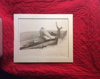 Andrew Wyeth Print - Study for April Wind