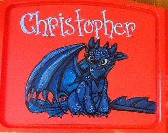 Toothless lap tray, toothless art tray,  how to train a dragon tray, dragon tray, disney activity tray, disney TV tray, dragon tray