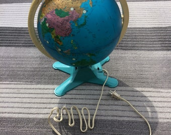 """17"""" Tall Lighted Globe With View Finder / Vintage Fisher Price"""