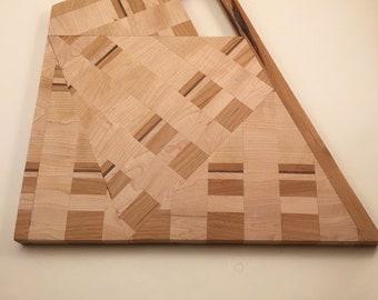 Maple, Walnut, and Alder Funky Cutting Board