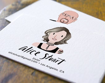 Custom Illustrated Personalized Business Cards (Digital File Only)