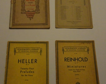 Bundle of Vintage Sheet Music from 1902-1922