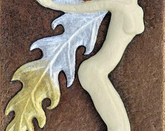 Woodland Fairy - Cast Paper - Fantasy art - Irish fairy - Celtic Fairy - Irish art - faery - faerie - fay - fae- wee folk - nude-naked fairy