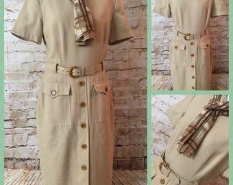 Beautiful classy vintage safari dress