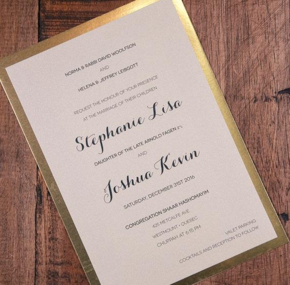 New Years Wedding Invitation New Years Invitation New Years