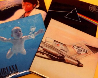 Classic Albums Coasters - YOUR CHOICE - Sets of 4, 6 or 8