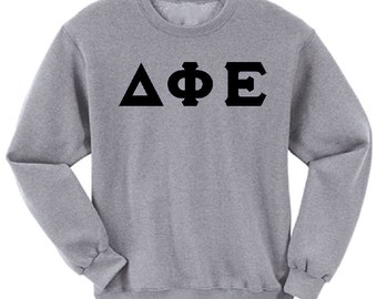 Delta Phi Epsilon - Athletic Grey Sweatshirt