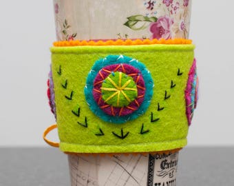 Felt Cup Sleeve - Circles