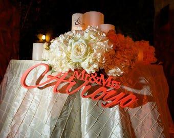 Mr and Mrs LAST NAME, Wedding Sign, Mr & Mrs Last Name Table Sign, Wedding Decor