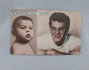 "Vintage Mid Century Arcade Cards Then and Now Anthony ""Tony"" Curtis"