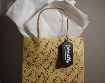 Custom Hand Lettered Gift Bag