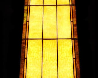 Antique Victorian Church Stained Glass Window