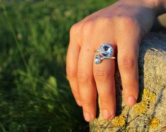 Swarovski Crystal Ring, Swarovski Ring, Dainty Ring, Minimalist Ring, Crystal Ring, Sterling Silver Ring, Silver Ring