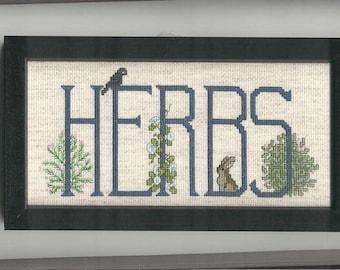 Herbs Cross-stitch