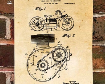 KillerBeeMoto: Duplicate of Original U.S. Patent For Shaft Drive For Indian Motorcycle