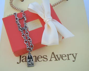 Vintage Sterling James Avery Noel Charm & Bracelet