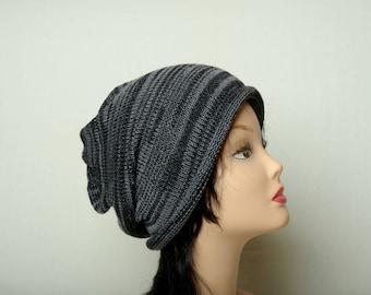 mens winter black gray Beanie slouchy hat womens mens unisex  Knitting Accessories teen mens slouchy beanie