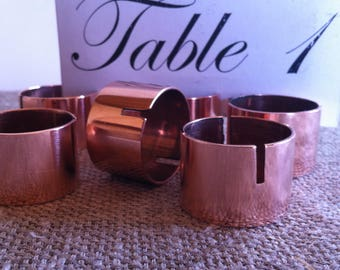 24 Copper place card holder, Copper pipe name tag holder, Rustic wedding table decor, Copper wedding decoration .