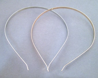 Wire Headbands Silver or Rose Gold Plated