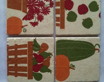 Autumn Stone Coasters