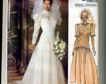 Vogue Bridal Original Pattern size 10 #1660, 1986