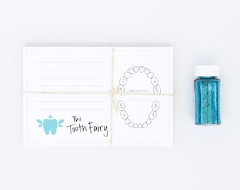 Tooth Fairy Refill Cards | Tooth Fairy Stationery | Blue | 4x6 | Made in the USA | SP 005