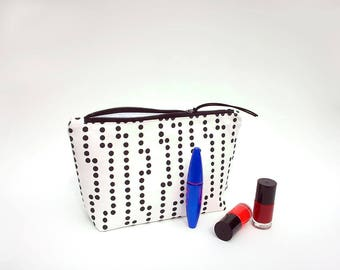 Waterproof makeup bag, Large cosmetic bag, Toiletry bag for women, Trousse maquillage, Black and white make up bag