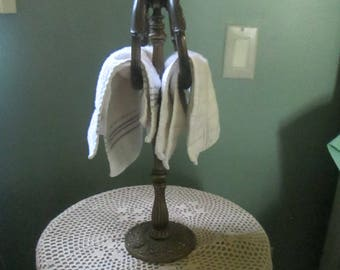 Vintage Standing Towel Rack / Bathroom Guest Towel Rack