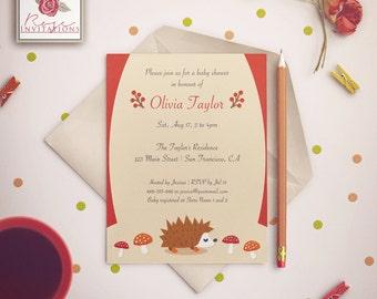 Cute Autumn Life - Baby Shower Invitation