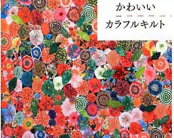 Hiroko Ninagawa Colorful patch Work quilt zakka  Japanese Craft Book with full puttern