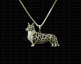Cardigan Welsh Corgi - Gold pendant and necklace.