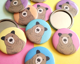 Pocket Mirror featuring Toby the Bear