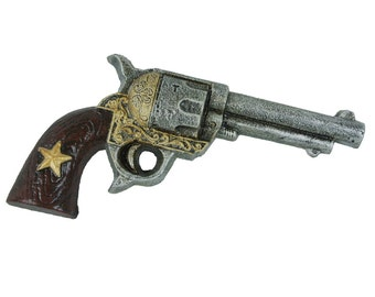 Cast Iron Bottle Opener -  Pistol Western Primitive Decor