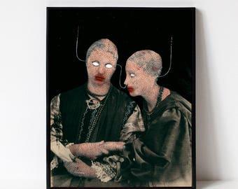 Giclée Art Print - Original Art | Art Print | Illustration | Digital Artwork Poster | Wall Decor | Portrait | Surreal | Victorian