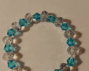 Blue and clear sparkle streatch Bracelets